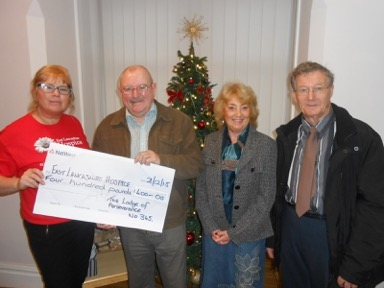 The Lodge of Perseverance No 345 make numerous donations to charities