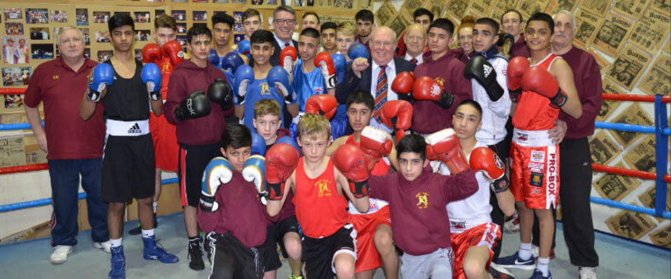 East Lancs Masonic Charity Grant to Bury Amateur Boxing Club