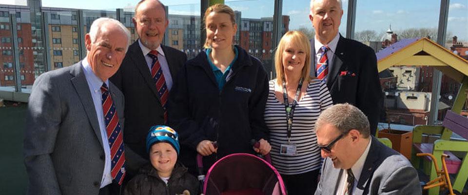 Manchester Masons visit the Royal Manchester Children's Hospital
