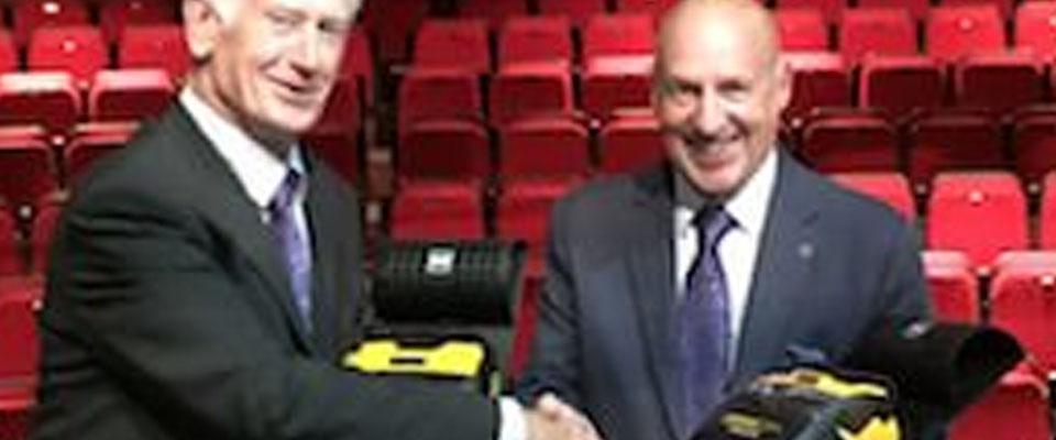 Defibrillators presented to local Theatre