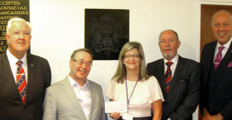 Manchester Masons Donate to the ELMC