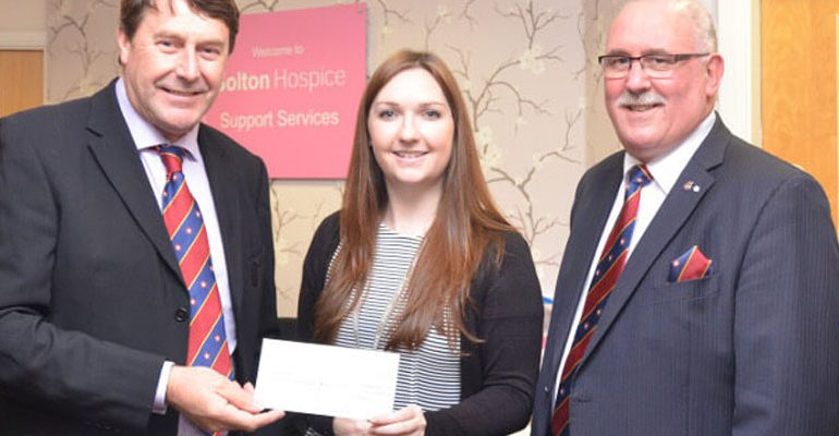 Grand Charity Cheque Presented to Bolton Hospice