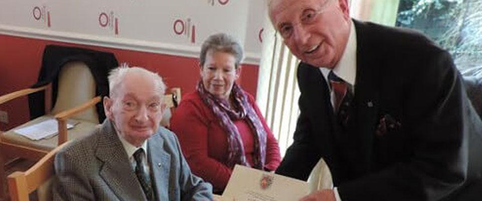 WBro Harry Bucknell Celebrates 60 Wonderful Years in Freemasonry