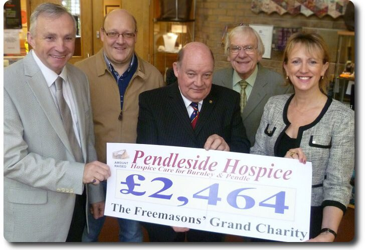 The Freemasons Grand Charity Continue Their Support For Pendleside Hospice