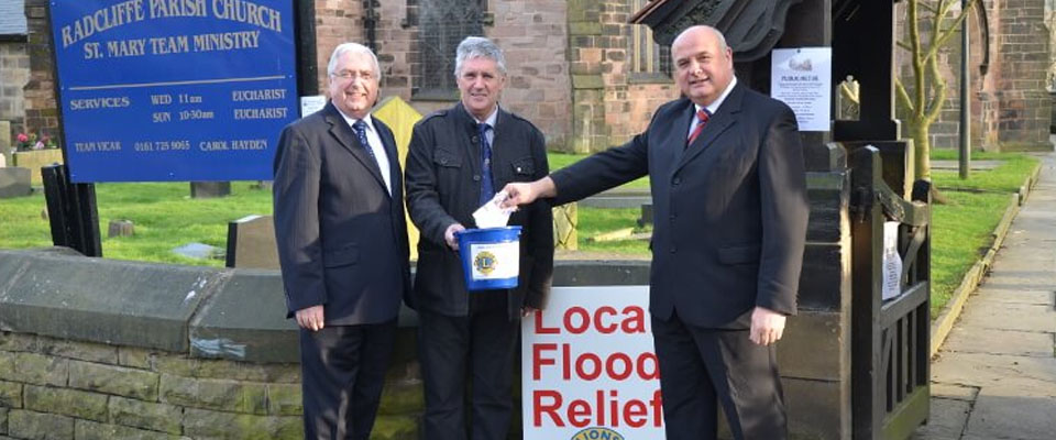 Lions Roaring at the success of their Flood Relief Fund