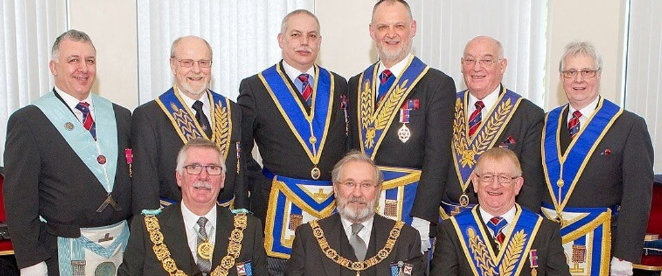 Rochdale Masons attend the Provincial Grand Lodge Meeting of County Down in Belfast