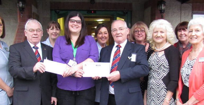 Salford Freemasons and the ELMC support Springhill Hospice at Home Service