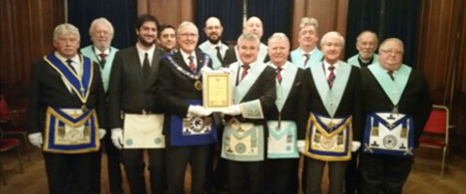 St George's Lodge 100% Giving Certificate