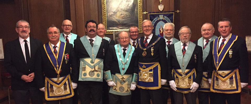 Assistant Provincial Grand Master visits St Thomas' Lodge No 992