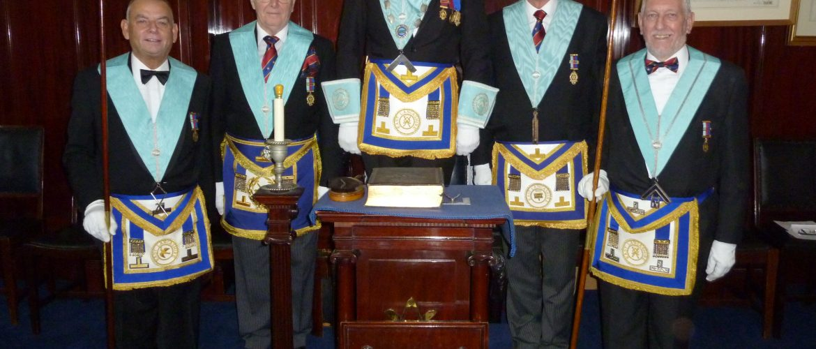 Last minute  changes at Euclid Lodge of Installed Masters.