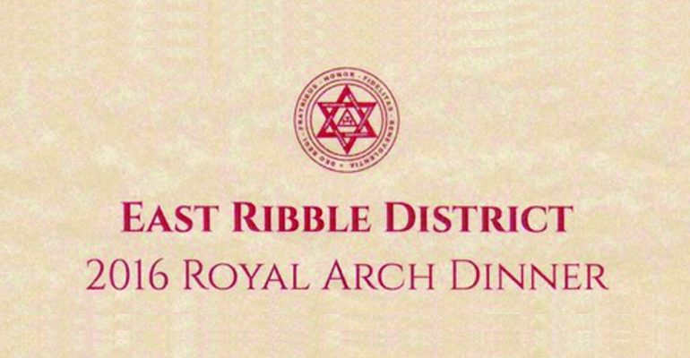 East Ribble Royal Arch 2016 Dinner