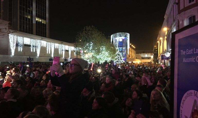 ELMC & East Ribble District supports Blackburn Christmas Lights Switch on!