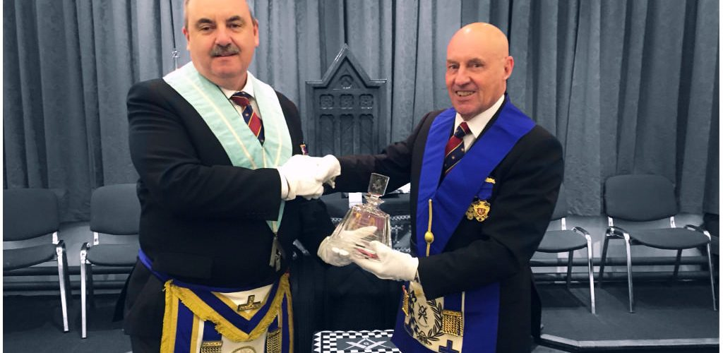 District presentation to thank WBro Bob Allan