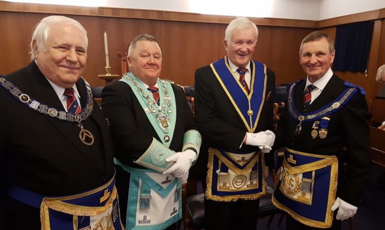 WBro Keith Ramsden PProvGSuptWks celebrates 50 years in Freemasonry
