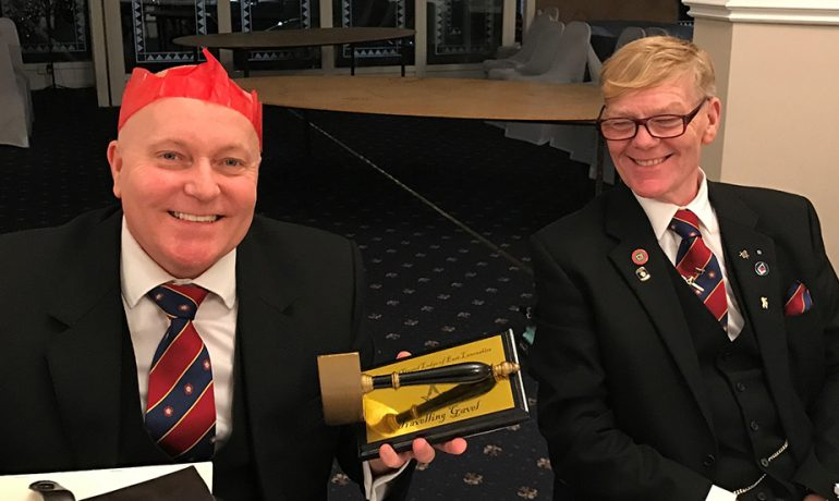 Milton Lodge No 1144 Captures the Travelling Gavel