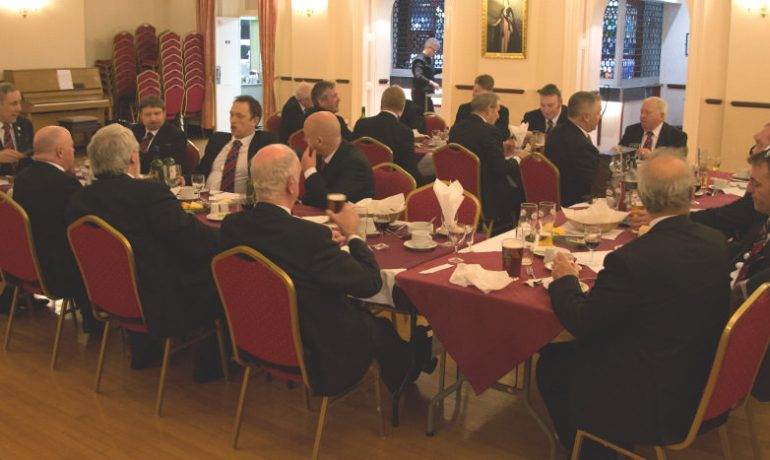 Raising Ceremony at Earl of Lathom Lodge