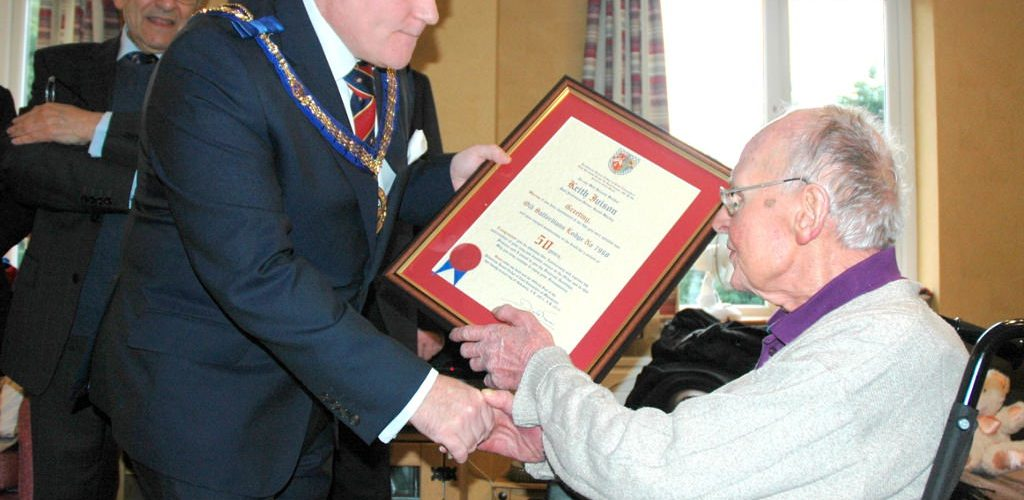 WBro Keith Iveson Celebrates 50 Years in Freemasonry