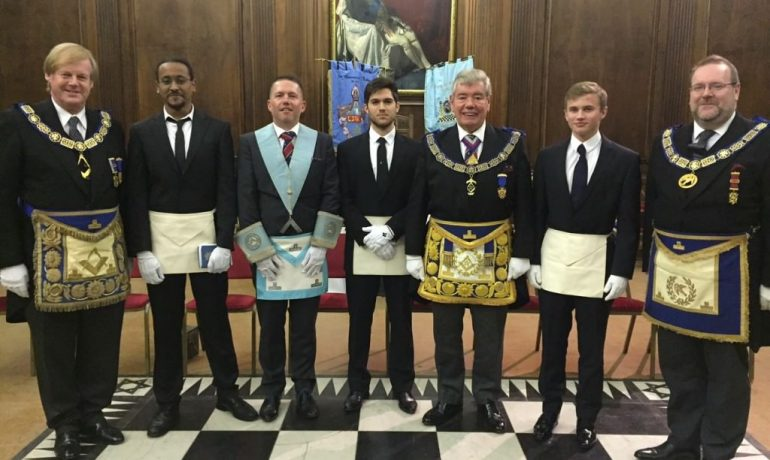 Old Mancunians with Mount Sinai Lodge No 3140 welcomes Sir David Wootton AGM