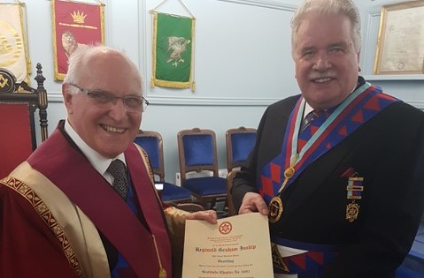Celebrating 50 years in Royal Arch Masonry for EComp R Graham Inskip, PGStB
