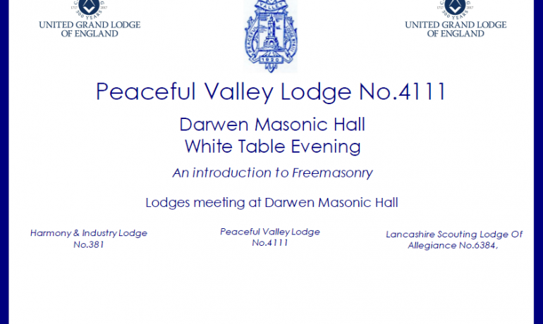 East Ribble District's Second White Table Event
