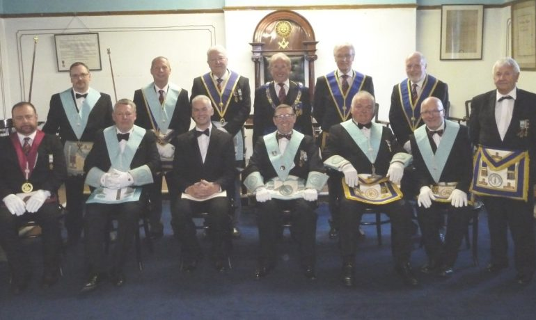Brethren who answered WBro Alan Butterworth's 'call for help' at Roclyffe Lodge.