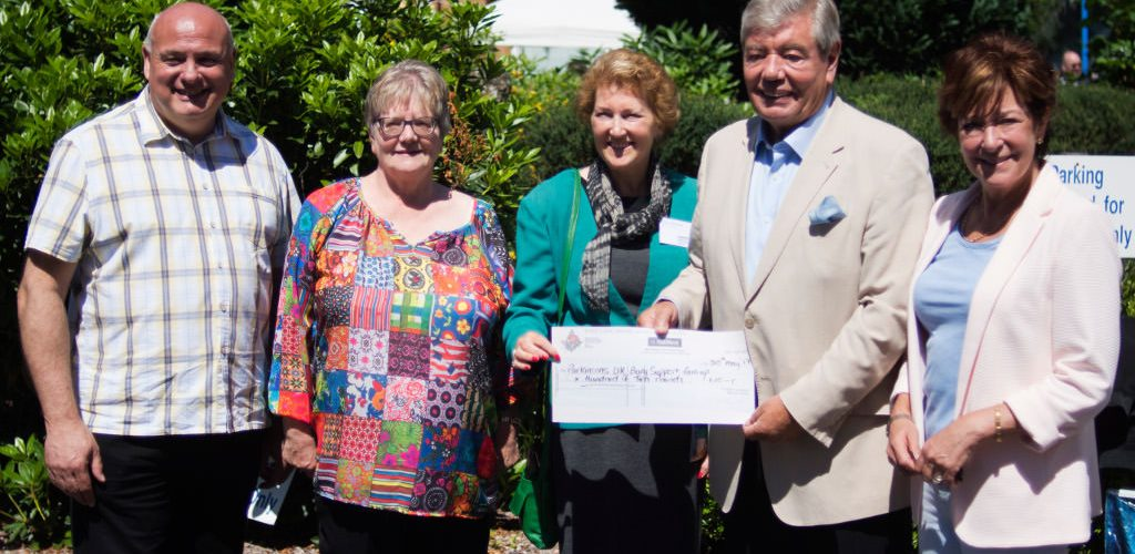 Cheque for Parkinsons UK Bury Support Group