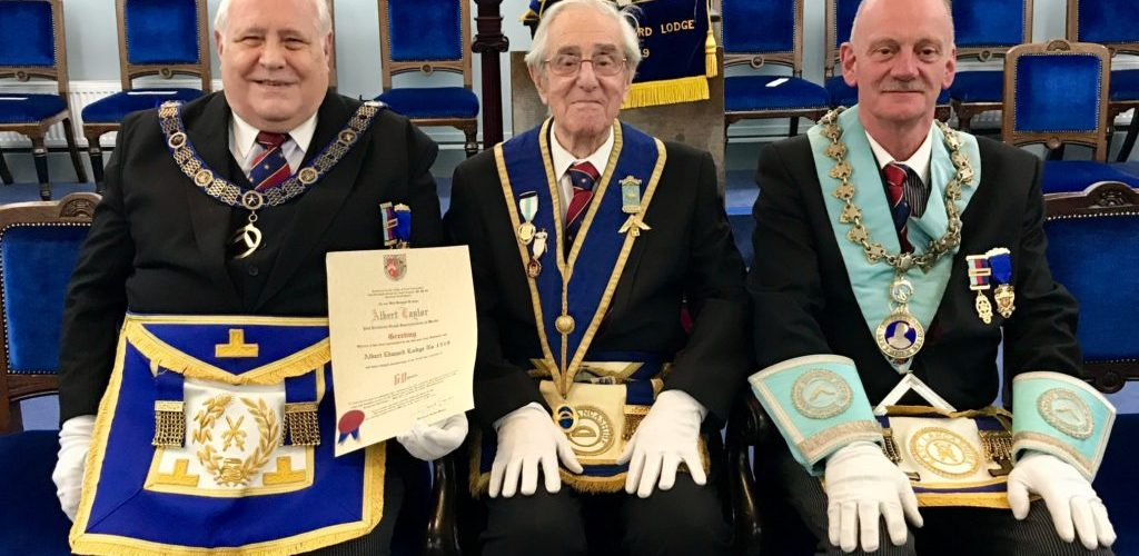 WBro Albert Taylor PProvGSuptWks Celebrates 60 years