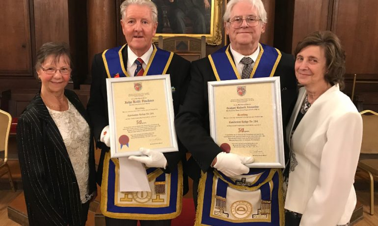 A Double 50th Celebration at Caledonian Lodge 204