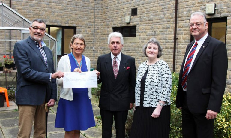 Pendle Hospital therapy garden benefits from Freemason's grand donation