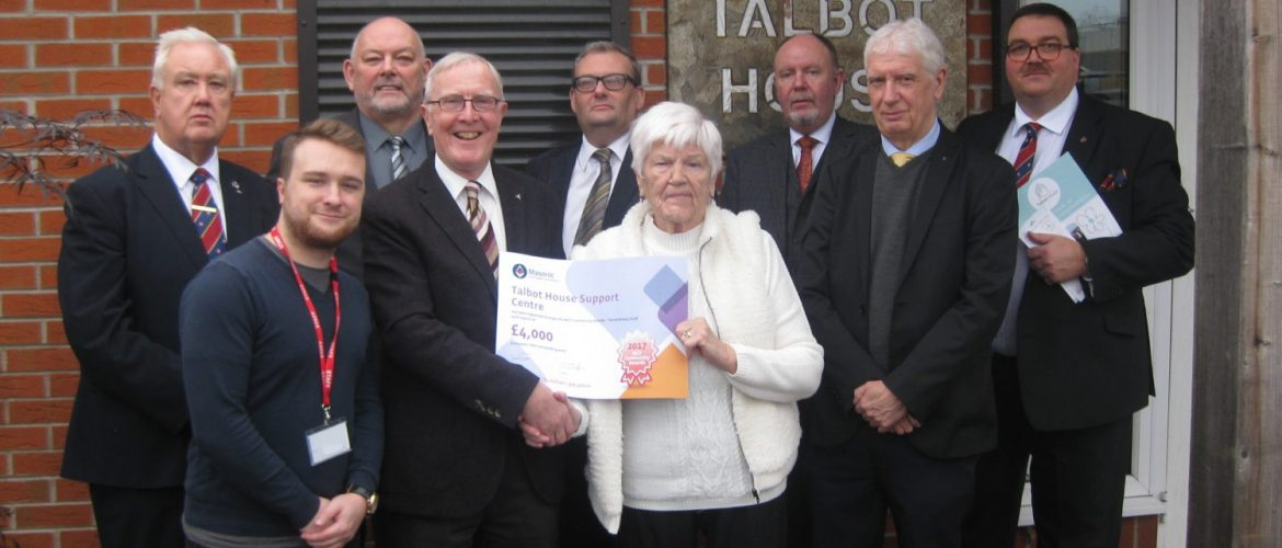£4000 MCF award for Talbot House Support Centre