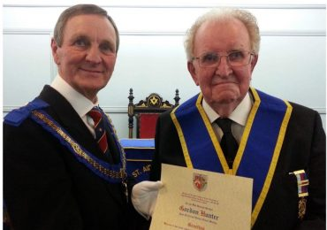 WBro Gordon Hunter Celebrates 50 years in Freemasonry