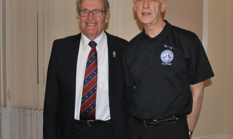 Unity Royal Arch Chapter hosts Oldham Mountain Rescue Team Member