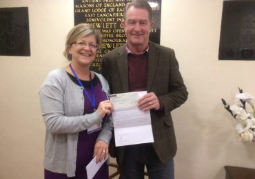 Loyal Lodge No 5040 donates more than £5040.00 to Charity in its final year