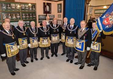 The Keystone Lodge No 363 held a 50th Personal Birthday for Sir David