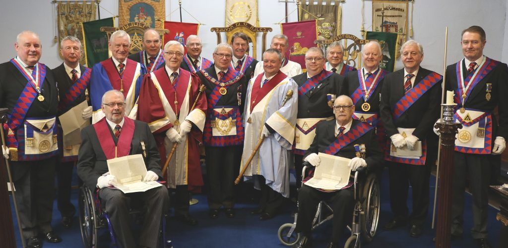 Grand Chapter Certificates presented to five newly exalted companions