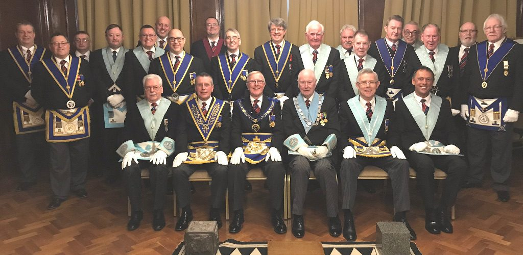 WBro Chris Welton, APGM for Manchester Districts, visits Albatross Lodge No 6164