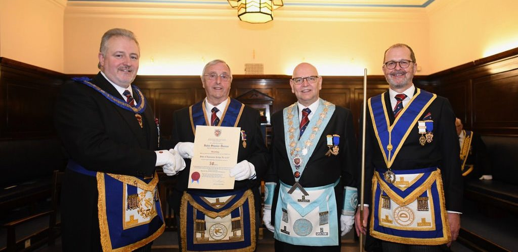 WBro John Stanier Davies, PProvJGD, Celebrates 50 Years as a Mason