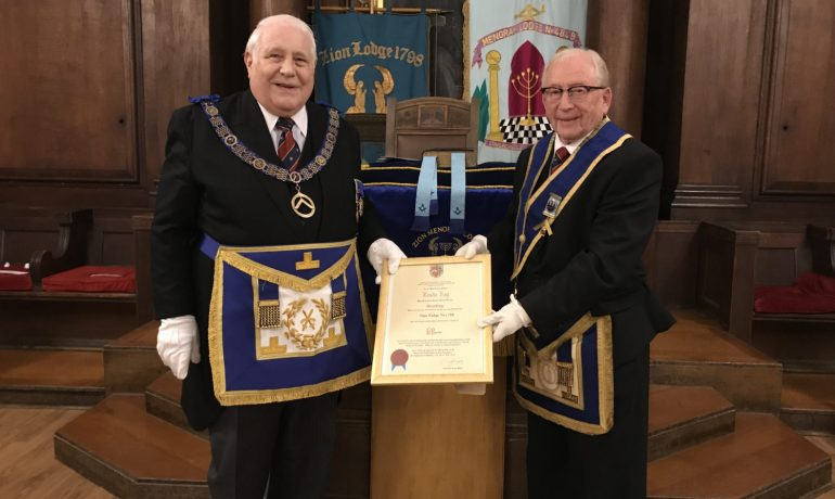 WBro Leslie Kay celebrates 60 years in Freemasonry