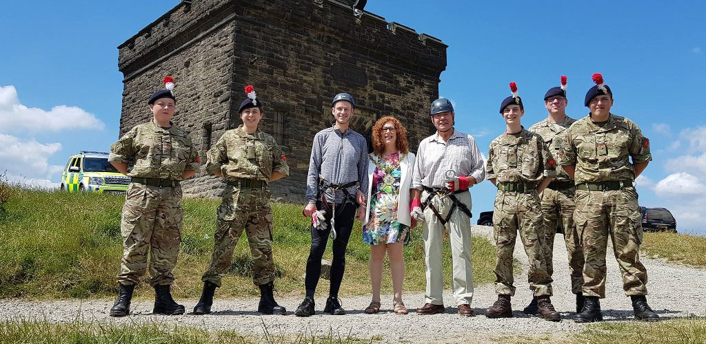 Peel Tower Abseil and Open Day, 7th July 2018 raises over £8,500 for charity.
