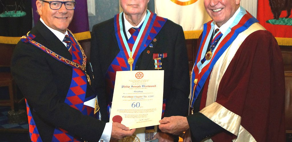 Philip Westwood Celebrates 60 Years in the Royal Arch at Waverley Chapter No 1322