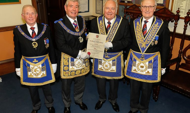 The lodge of Harmony No.298 a 50th Personal Birthday Celebration on Tuesday 5th September for:-