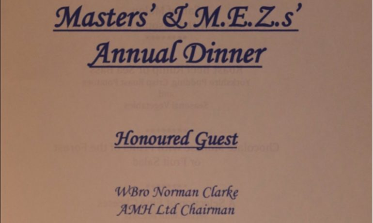 The Audenshaw District Masters' and First Principals' Annual Dinner