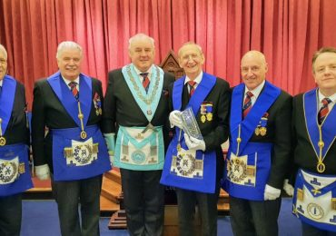 Presentation to WBro Brian Carter PAGDC at Verity Lodge No. 3949