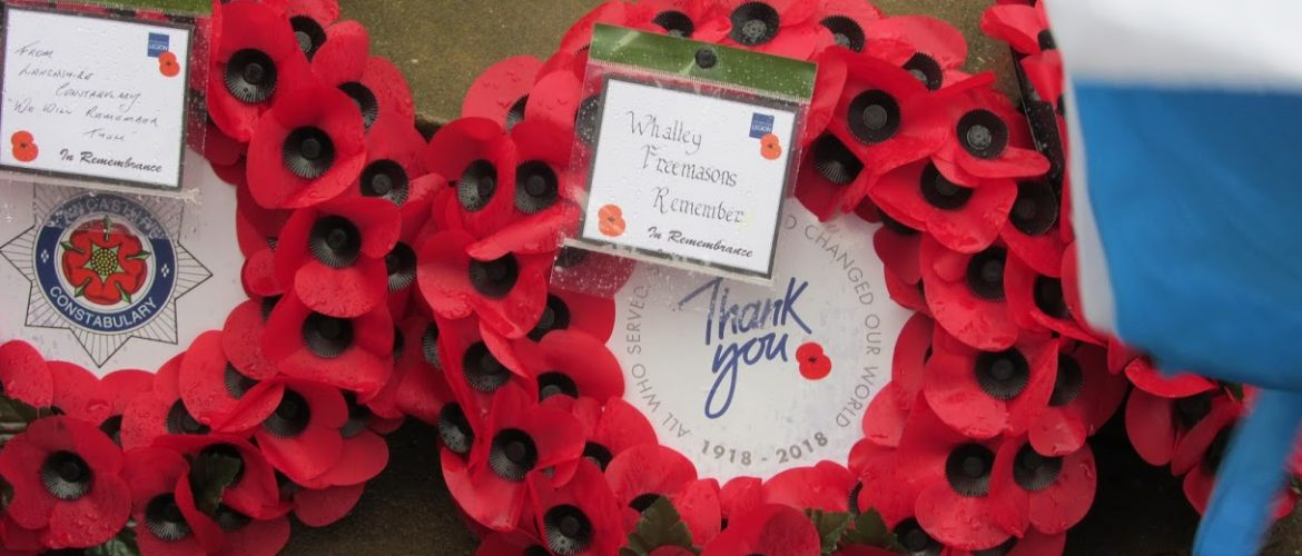Whalley Freemasons Remember The Fallen.