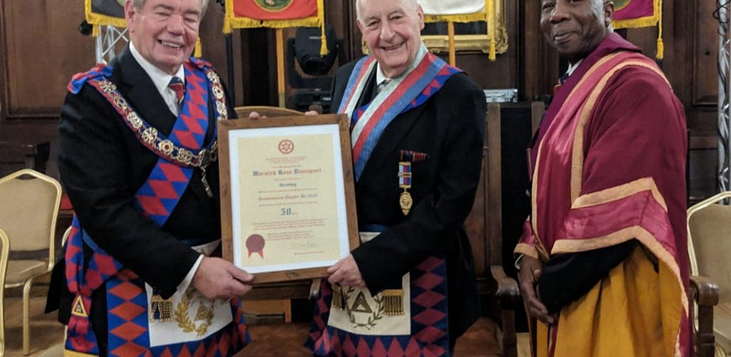 Warwick Davenport Celebrates 50 years in the Royal Arch