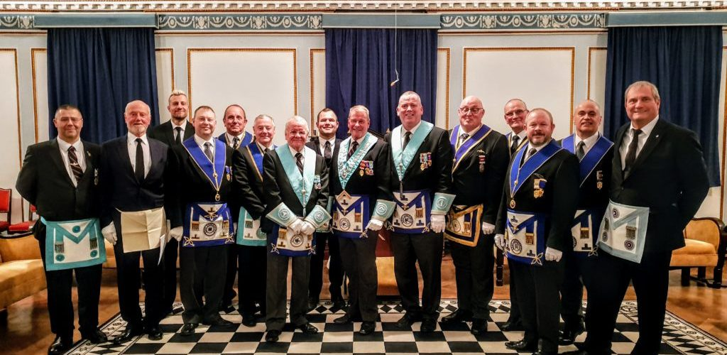 A Contingent from East Ribble visit Military Lodge, Pro Patria No. 9952