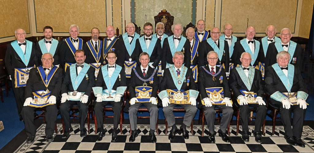 RWBro. Sir David Trippier, RD, JP, DL Provincial Grand Master, Installed as  Worshipful Master of Keystone Lodge No 363.