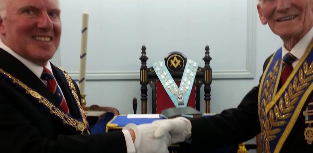 Roger Flitcroft, 50 years in Freemasonry