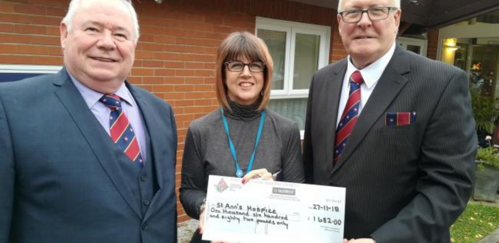 St Annes Hospice receives a £1,682 Grant from the MCF
