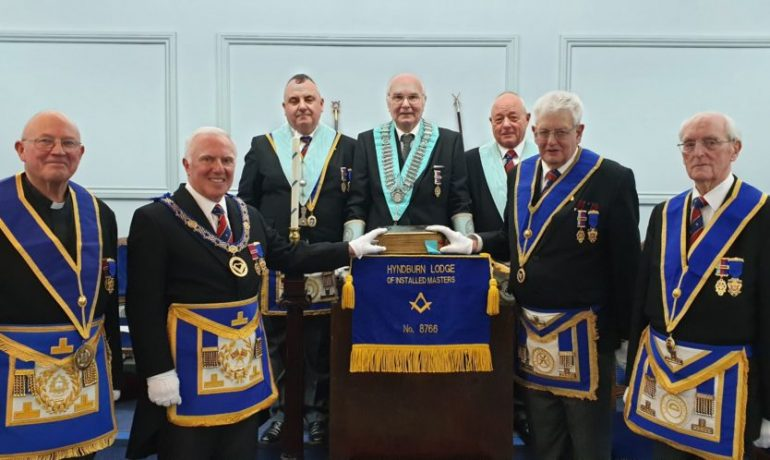 Bible Re-Dedication at The Hyndburn Lodge of Installed Masters No.8766